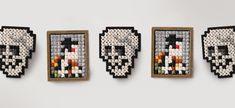 Oozu Makoto Skull & Ukiyo-e print cross stitch