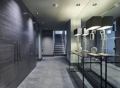 soft grey palette entrance hall | mirrored wall || MAYFAIR HOUSE (PART 1) | designers Bill Bennette Design Limited marble Stone Theatre London