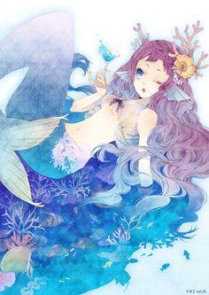 Картинки по запросу fantasy mermaid anime