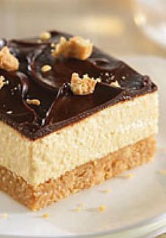 Smart-Choice Peanut Butter Cup Squares — Creamy peanut butter may be the headliner, but semi-sweet chocolate and sweetened Neufchatel cheese also have prominent roles in this no-bake dessert recipe.