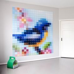 Patchwork Bird Mural Wall Pic