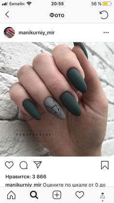 Painted nails are already an indispensable thing for girls. Simple Acrylic Nails, Best Acrylic Nails, Matte Nails, Stylish Nails, Trendy Nails, Multicolored Nails, Fire Nails, Minimalist Nails, Green Nails