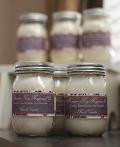French Vanilla  16oz Mason Jar Candle by mckennakay on Etsy, $17.50