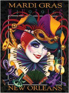 Andrea Mistretta Mardi Gras poster 1996