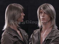 Male Wig Mannequin Head Hair #WG-ZL39-18T22