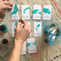 My Custom painted business cards. Feeling Stuck, Blank Cards, Custom Paint, Business Cards, Feelings, Creative, Painting, Instagram, Paint