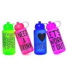 Love Pink water bottles