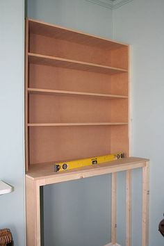 I've been making some clothes and toy storage for my son on either side of the chimney breast. Alcove Desk, Alcove Storage, Alcove Shelving, Alcove Cupboards, Diy Cupboards, Built In Cupboards, Built In Bookcase, Room Shelves, Alcove Bookshelves