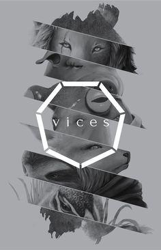 Poster. Vices by Steven Purwadipura, via Behance