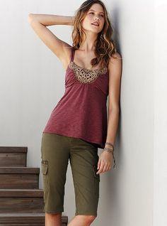 Skinny Cargo Shorts from Victoria's Secret - definitely my style!