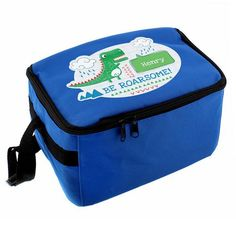 Personalised Lunch Bag - Be Roarsome Dinosaur