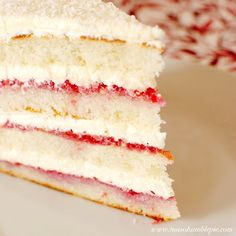Mama's Style: Raspberry Lemon Coconut Cake