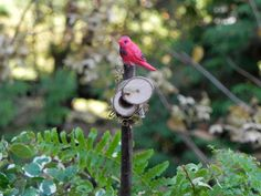 Fairy Garden Mailbox for miniature garden terrarium with red cardinal by TheLittleHedgerow on Etsy https://www.etsy.com/listing/168492576/fairy-garden-mailbox-for-miniature