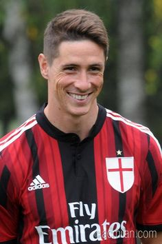 Fernando Torres at AC Milan. Short lived..but he sure looked good with the Rossoneri