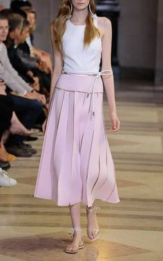 Illusion Seam Skirt by Carolina Herrera for Preorder on Moda Operandi
