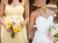 Rustic Chic Pink, Yellow & Grey DIY Wedding - Bridal Musings Wedding Blog