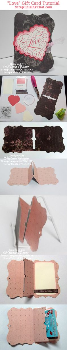 Scrap This...Ink That!:  Click here for a detailed tutorial for making this Cricut® Artiste gift card holder.  http://scrapthisinkthat.com/love-gift-card-holder-tutorial/