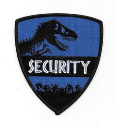 Jurassic World Movie Park Security Guard Logo Embroidered Patch, NEW UNUSED