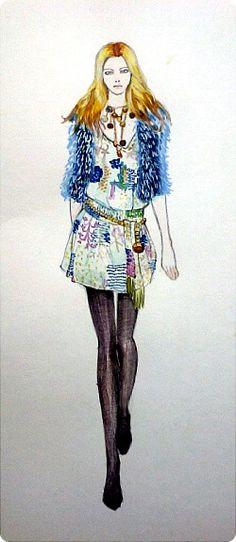 2008 F/W #Gucci #fashion #fashionillustration #fashiondrawing #fashionsketch #readytowear
