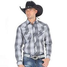 El General Men's Traditional Plaid Western Long Sleeve Shirts