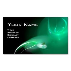 LIGHT BIRD MONOGRAM Vibrant black blue green business card