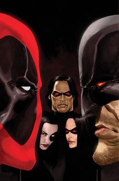Deadpool, Wolverine & X-Force - Kaare Andrews. Deadpool is awesome :D Comic Book Artists, Comic Book Characters, Marvel Characters, Comic Books Art, Comic Art, Lady Deadpool, Deadpool Wolverine, Spiderman, Batman