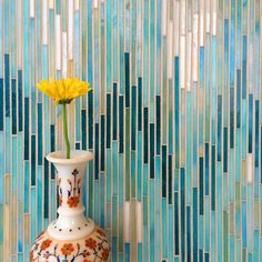 Textile-inspired teal and turquoise ikat mosaic tile from New Ravenna at #UniqueStoneImports #UniqueTile