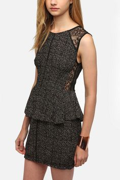 Just bought this -- keep or return?? Thistlepearl Two-Tone Peplum Dress  #UrbanOutfitters
