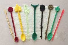 Vintage - Bar & Hotel Plastic Swizzle Stir Sticks - Lot of 9 Vintage Labels, Vintage Postcards, Stir Sticks, Mai Tai, Lazy Sunday, Vintage Advertisements, 1970s, Barware, Craft Supplies