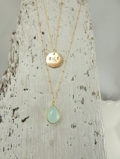 Monogram Necklace Personalized Necklace by PointNoPointStudio, $75.00