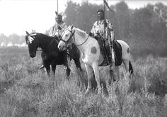 Shot in the Hand and Plenty Coups - Apsaalooke - circa 1900s