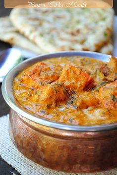 paneer tikka masala (chicken tikka masala is everyone's favorite indian dish. perhaps instead of chicken we can do something like this)