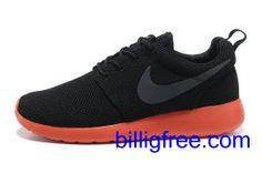 Verkaufen billig Schuhe Damen Nike Roshe Run (Farbe: vamp, innen - schwarz, logo - grau; Sohle - rot) Online in Deutschland.