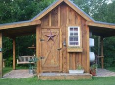 SHED SHACK APT with Overhangs ~ One Side a Porch & other Garden Room