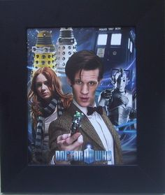 FRAMED Rare Doctor Who Dr. Who Tardis Dalek Poster Print Matt Smith Tennant