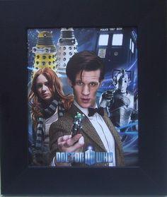 FRAMED Rare Doctor Who Dr. Who Tardis Dalek Poster Print Matt Smith Tennant
