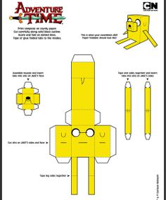 Adventure Time Jake Cut Out