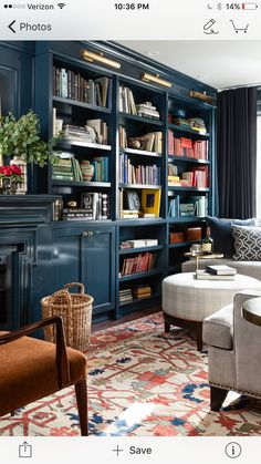 43 Spectacular Home Libraries Design Ideas With Nature Elements - It can become a fairly simple task when you are going to buy furniture for your home libraries. Unlike the furniture for the other rooms, home library. Cozy Library, Library Room, Library Ideas, Library Inspiration, Reading Library, Library In Home, Green Library, Home Library Design, Design Inspiration