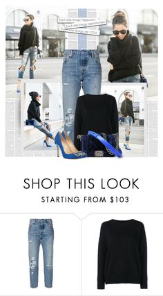 """""""Wendy"""" by bklana ❤ liked on Polyvore featuring Levi's, Frame Denim, Chanel and Manolo Blahnik"""