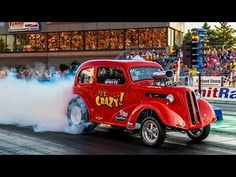 2015 Night Under Fire Ohio Outlaw AA/Gassers Beechcraft T-34B Mentor Nostalgia Drag Racing Videos - YouTube