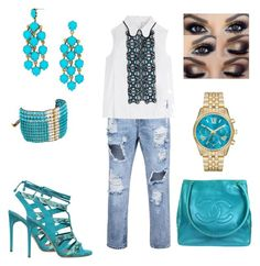 """""""Esverdeando"""" by rosania-gsrq on Polyvore featuring Peter Pilotto, Paul Andrew, Chanel, Chan Luu and BaubleBar"""