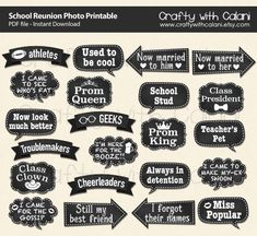 School Reunion Photo Booth Prop School Reunion by CraftywithCalani
