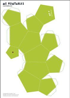 Eu Amo Artesanato: Frutas de papel com molde Paper Crafts Origami, 3d Paper, Paper Toys, Origami Flamingo, Flamingo Party, Paper Fruit, Geometric Origami, 3d Origami, Diy And Crafts