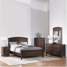 Elegance and grace evident on the wooden bed room set with side ...