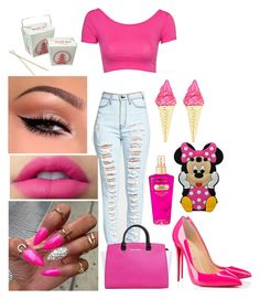 """""""9-21-15"""" by bumm-chix on Polyvore featuring Samsung, Victoria's Secret, Club L, MICHAEL Michael Kors and Christian Louboutin"""