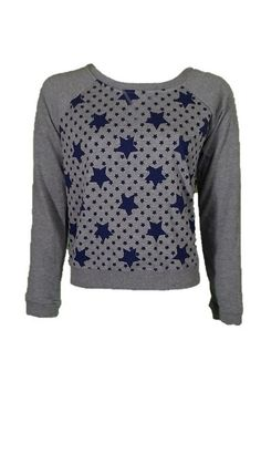 Levi Gray with Blue Stars Sweater