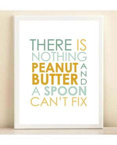 Aqua & Yellow 'There is Nothing Peanut by AmandaCatherineDes, $15.00