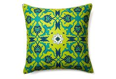 Divine Designs Kaleidoscope 20x20 Outdoor Pillow, Lime on OneKingsLane.com
