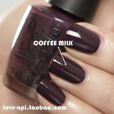 Coffee milk nail polish