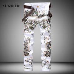 23.47$  Watch now - http://alih96.shopchina.info/go.php?t=32745217199 - 3D Printed Colorful jeans Men Fashion biker Denim Jeans Brand Cotton full length trousers Hombre Vaqueros Pantalones Casual Man 23.47$ #buyonlinewebsite
